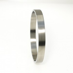 4456IST, Plain Steel Matte Bangle 8mm