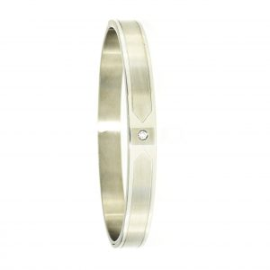 4478IST, One stone bangle,Engravable,  829.75