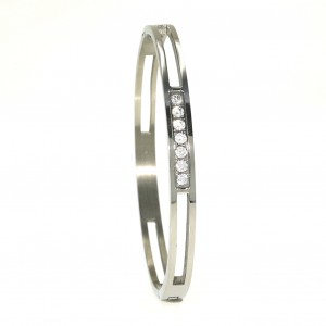 4620IST, Five Stone Steel Bangle