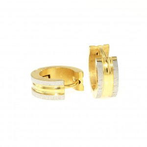 5585IST, Two Tone Clip Earring
