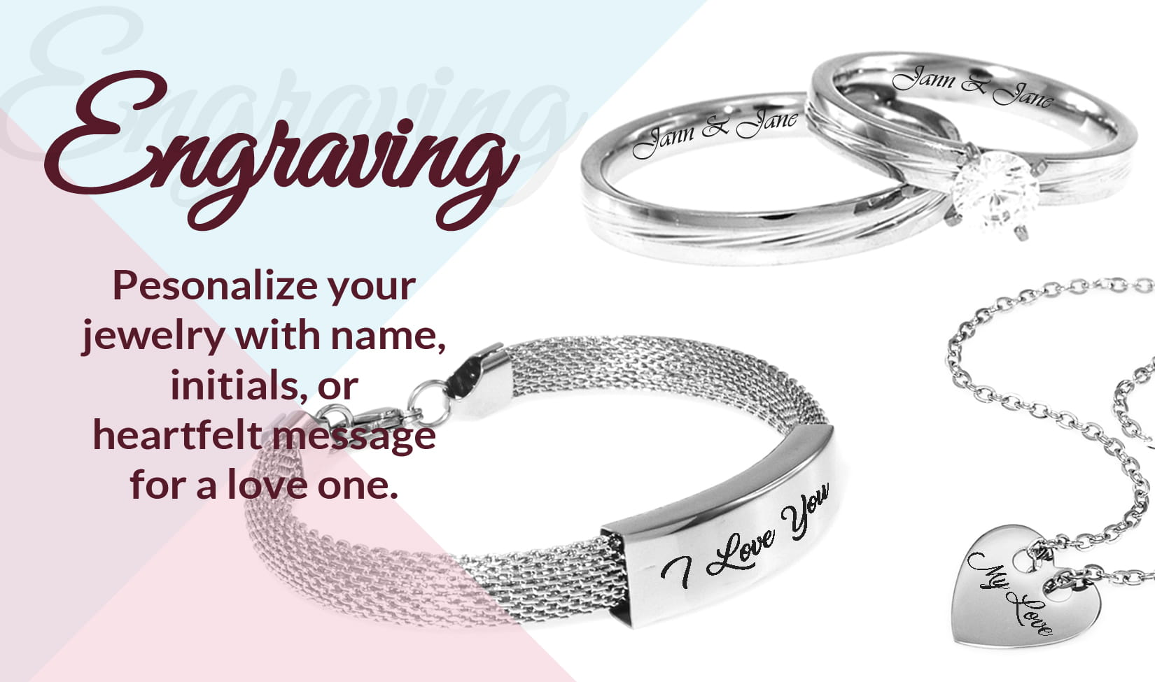 Imono Steel Jewelry - Engraving Services