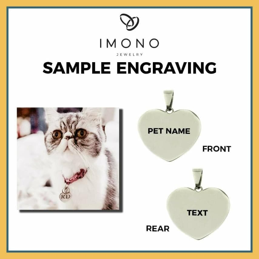 Imono Engrave Sample - Cat Tag